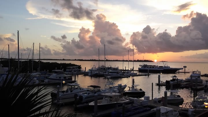 Waterfront Condo w/ Gulf, Sunset & Marina views