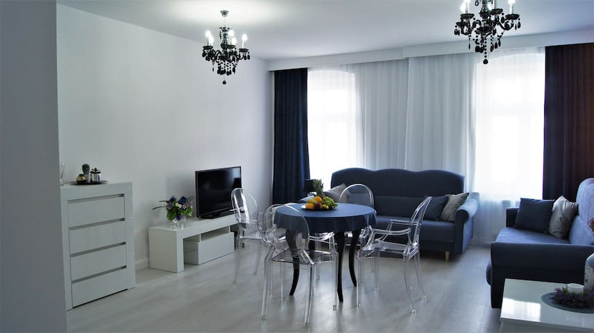 Przestronny Apartament Contento- Wrocław centrum