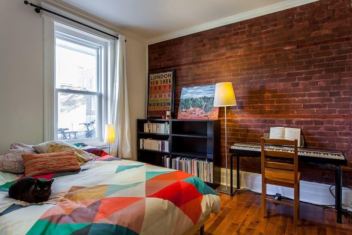 Suite in vibrant neighbourhood, on quiet street