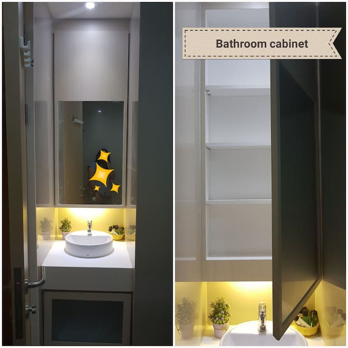 Bathroom Cabinet, perfect for longstay so you can keep your stuff more tidy :)