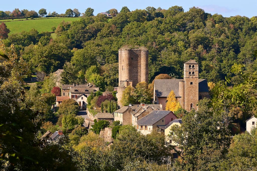 Our village.....Calmont in the Aveyron, 20 minutes south of Rodez, France in the heart of the Aveyron.