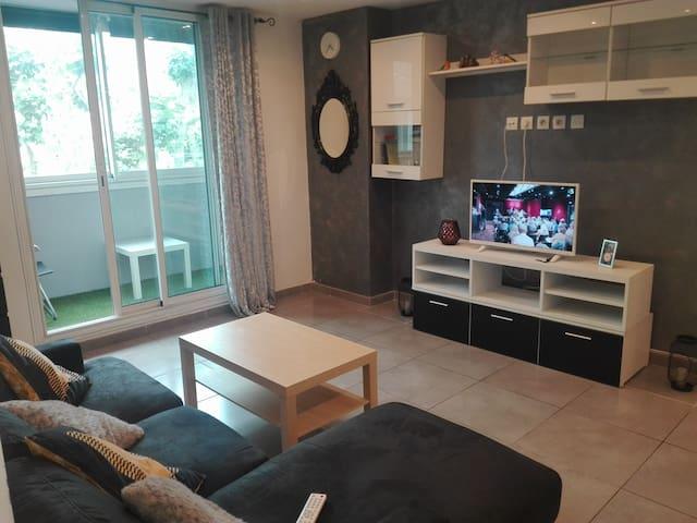 Appartement de charme, spacieux et bien équipé.