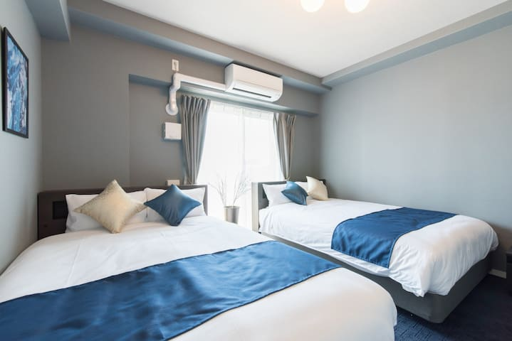 Deluxe twin room★Convenient location in Shin Osaka