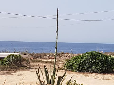 Vårt lille hus på Lampedusa.