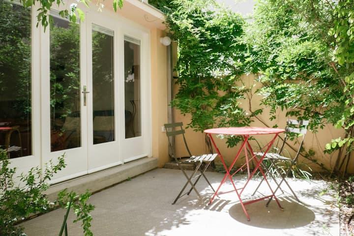 Best location, boutique bauhaus studio + garden