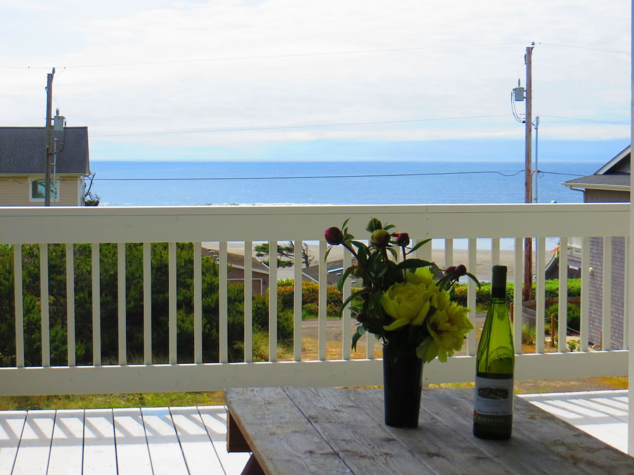 view from the SW Deck & Picnic Table