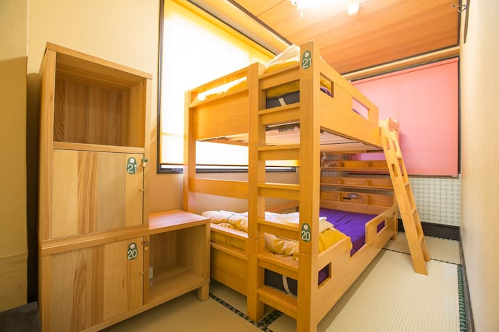 【2 mins walk from 北品川 St.】Bunk-bed twin bed room (5㎡) ,Free WiFi !!