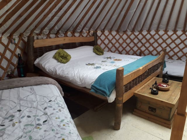 The Weaving Willow Yurt awaiting a family of 6.