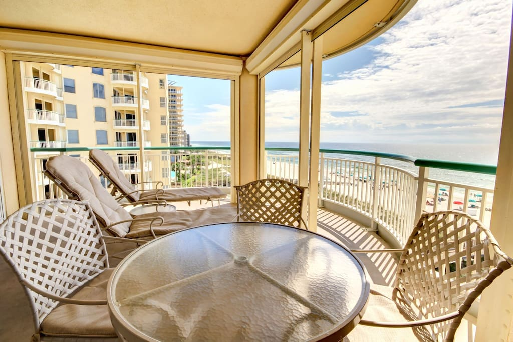 Enjoy a Wonderful Day on Your 300 Sq Ft Balcony