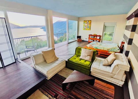 Pachamamas Green House - Udsigt over søen, natur, slap af