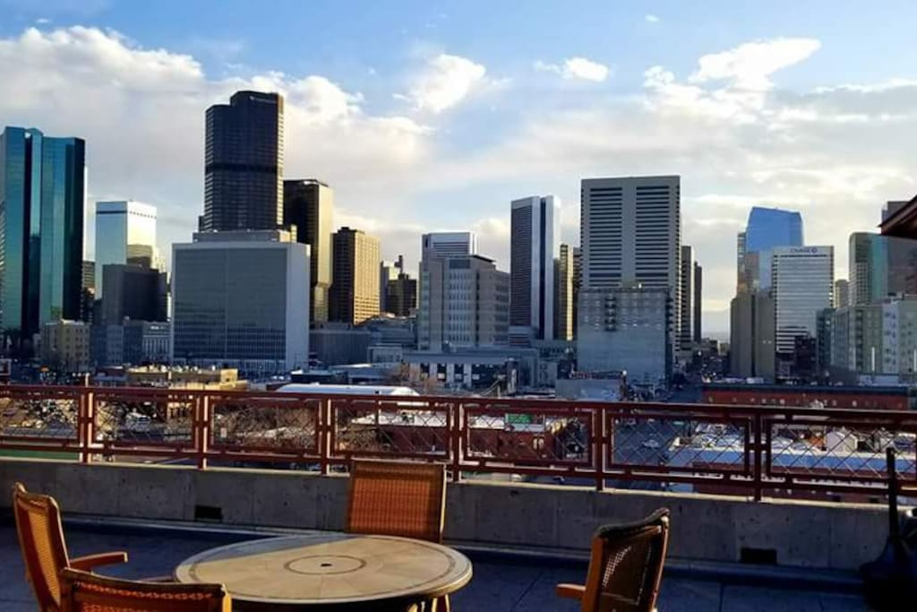 The rooftop patio