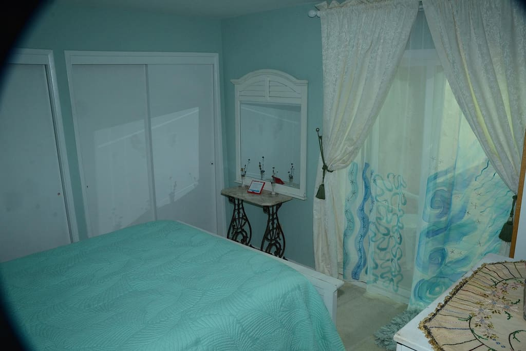 Jade Bedroom with half bathroom