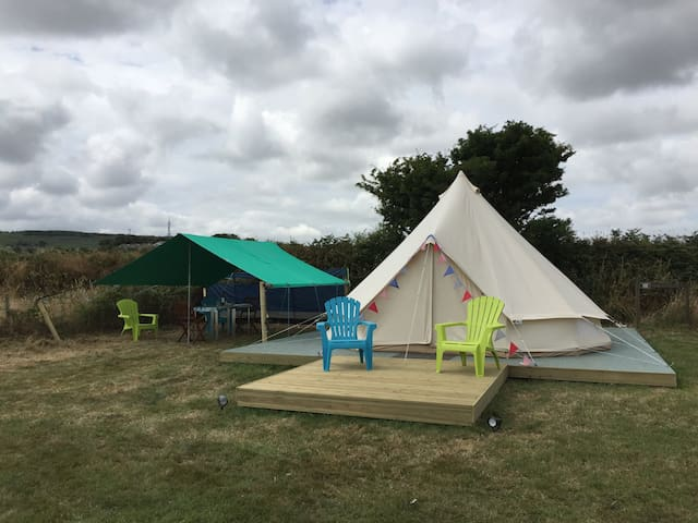 Beautiful 5m Furnished Bell Tent 'Oppie' Stithians