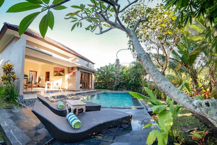 Jungle View 3 Room Villa w/ Pool*3km from center