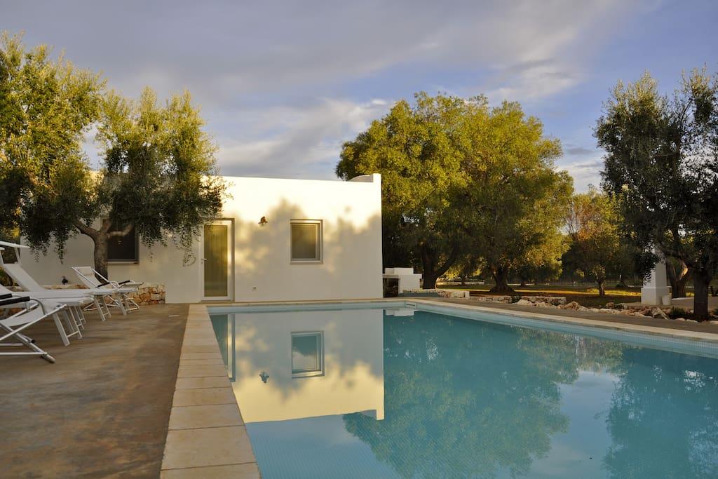 Pool, solarium and dependance.