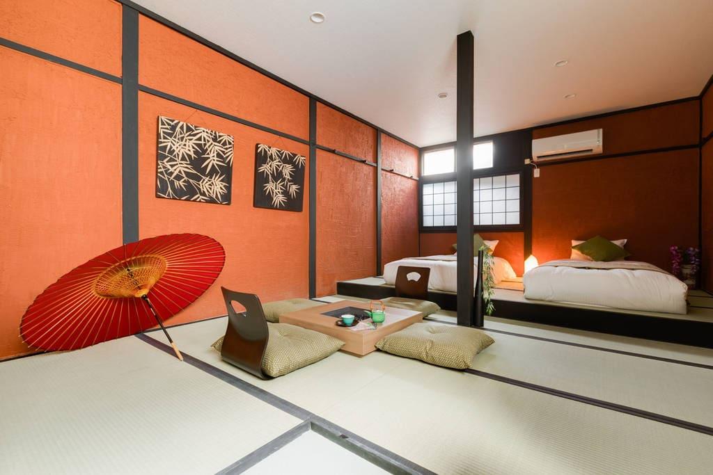 japanese tatami room experience.
