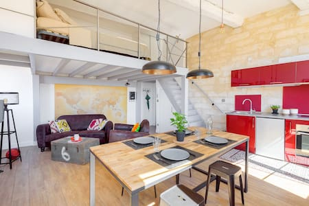 Rare loft historic center, quiet, view and parking - Montpellier