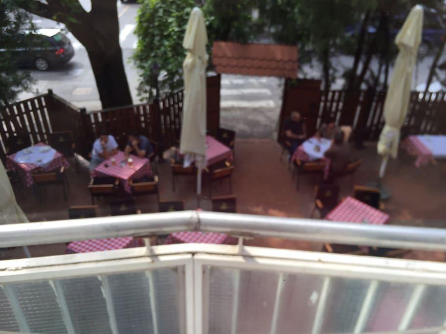 view form a terrace