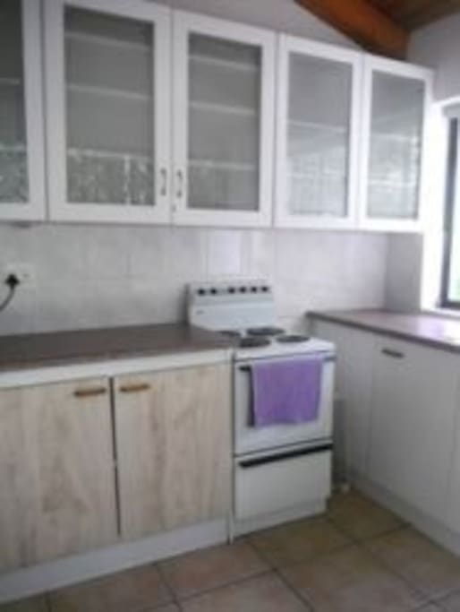 small kitchen has all fittings for self- catering.