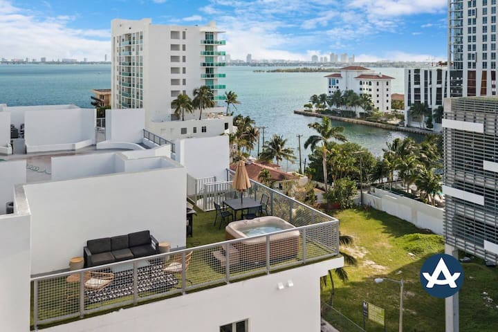 Sextant   Edgewater Penthouse #706   Private Rooftop+Hot Tub   10 mins to Beach