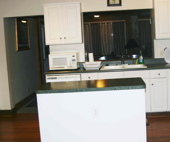 250 Sq. Feet of Kitchen with all your cooking and eating needs       provided