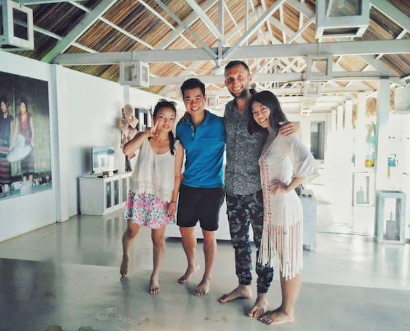 A cozy room at D'house - Phu Quoc - Retkeilymaja