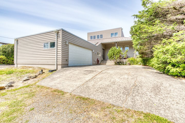 New listing! Charming oceanfront home w/ spacious deck & private beach!
