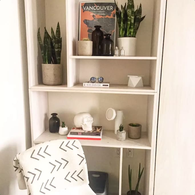 shelving/storage space