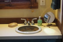 Handcrafted pottery sink