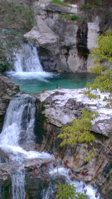 veduta della cascata - waterfalls