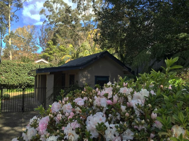Cosy hut with tranquil garden view - Turramurra - Huis