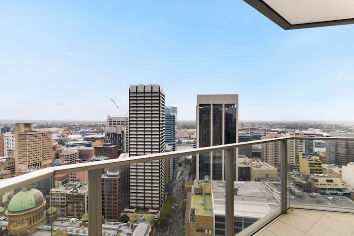 Balcony view overlooking Darling Harbour