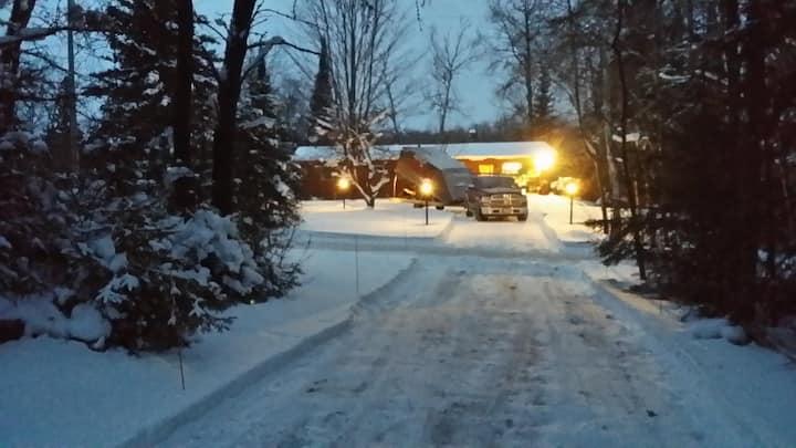 Quiet cabin with true northwoods setting.