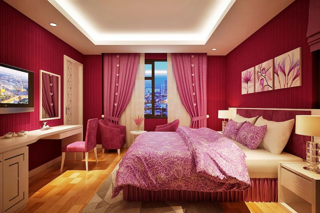 Honeymoon room with special design for couple