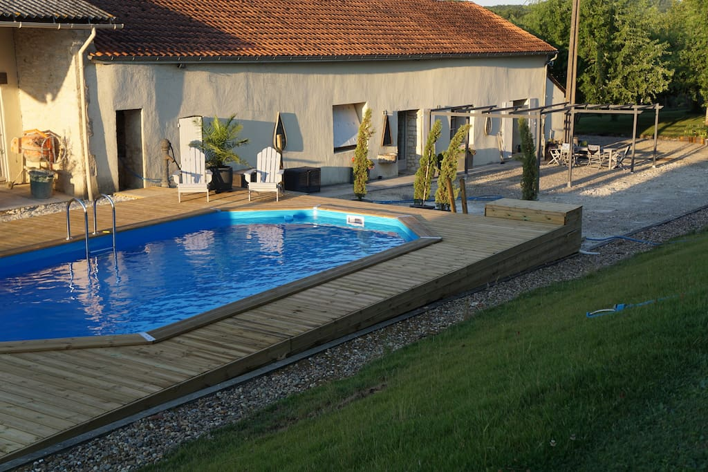 The pool is now ready for guests!