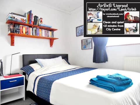 Clean & Quiet Retreat. Your Home in Liverpool!