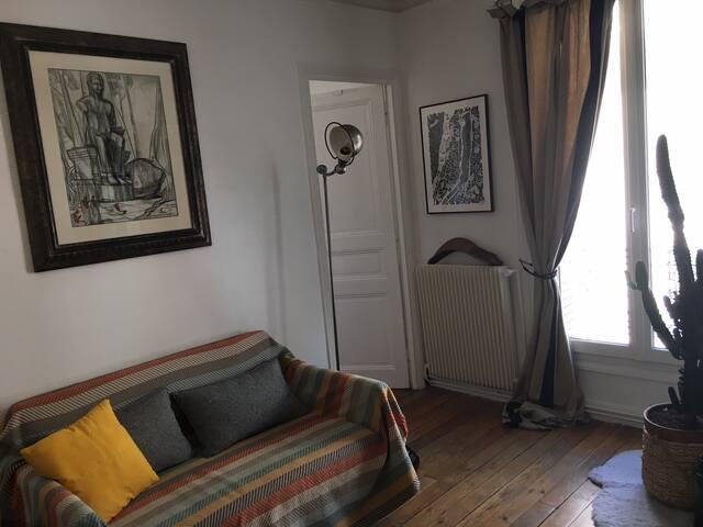 Le salon et son canapé lit