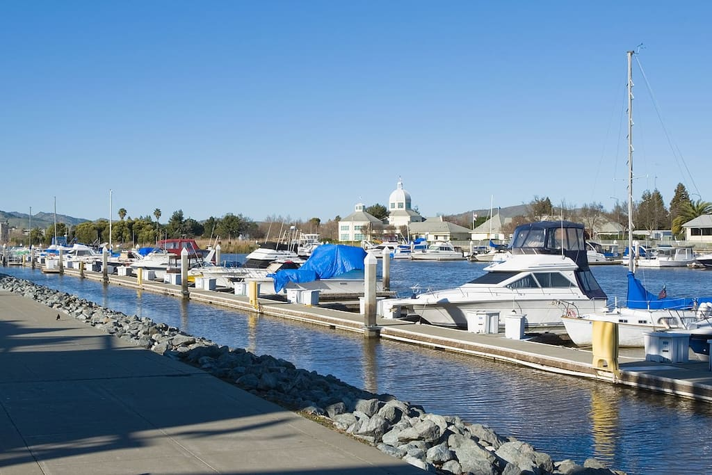 Suisun marina a short walk with outdoor dining and jogging trails