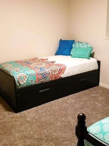 Bedroom #2 - Twin Bed with drawers underneath
