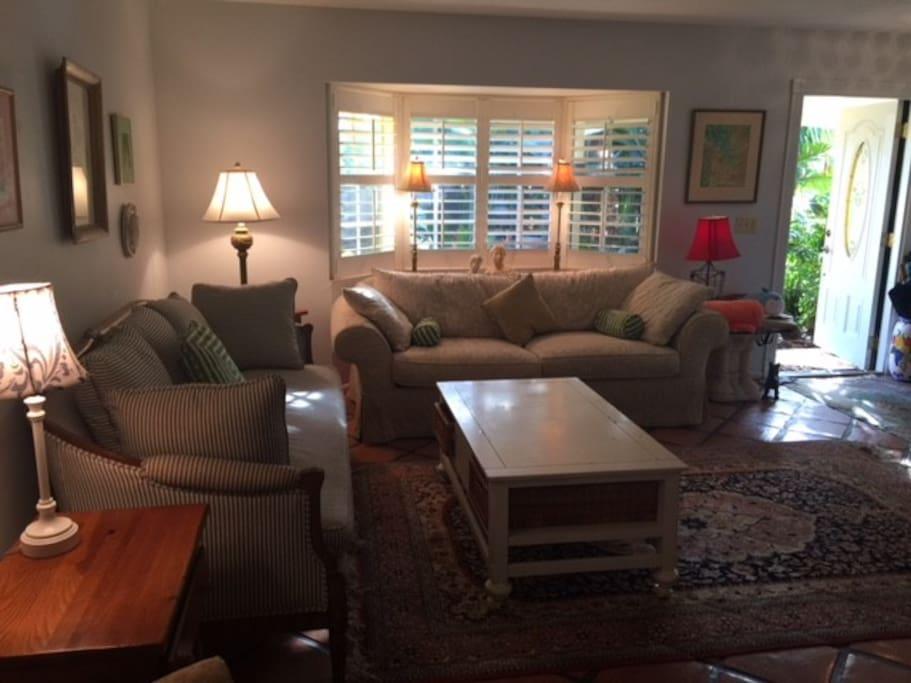 Light filled Living Room as you enter