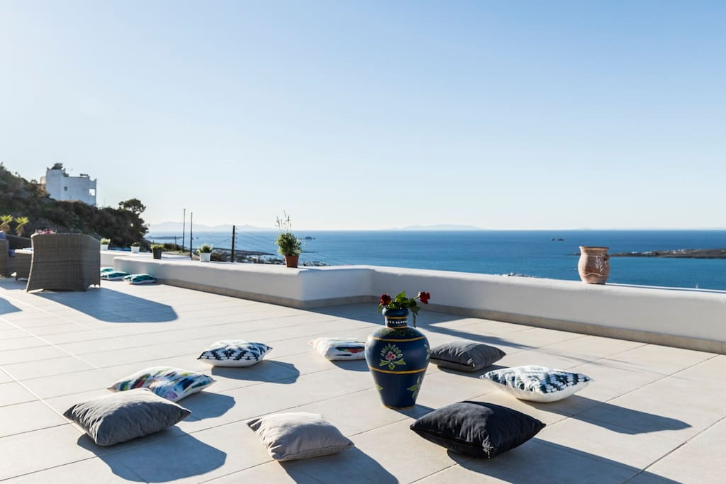 "The location of the house gives the visitor the chance to enjoy the most beautiful sunset of the Aegean sea, so it is obvious why this area is called  ""The balcony of Paros""."