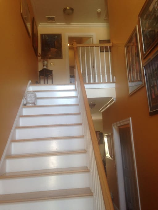 Two story home. Library, bedroom and private bath on upper level.