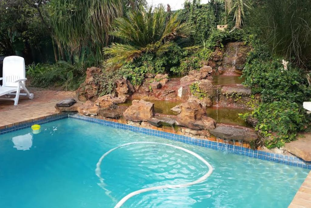 Swimming pool and garden access