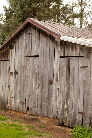 Rustic structures abound on the farm.