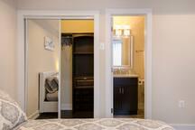 Bedroom #3 closet and bathroom entrance
