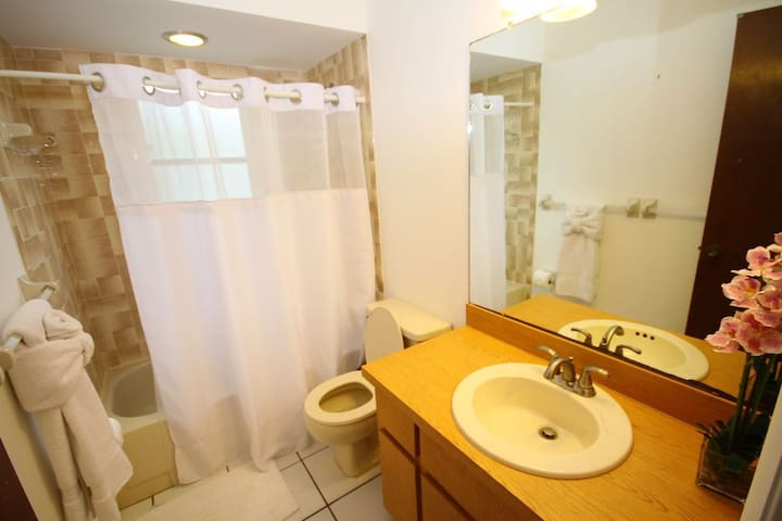 1 st Floor bathroom with bathtub