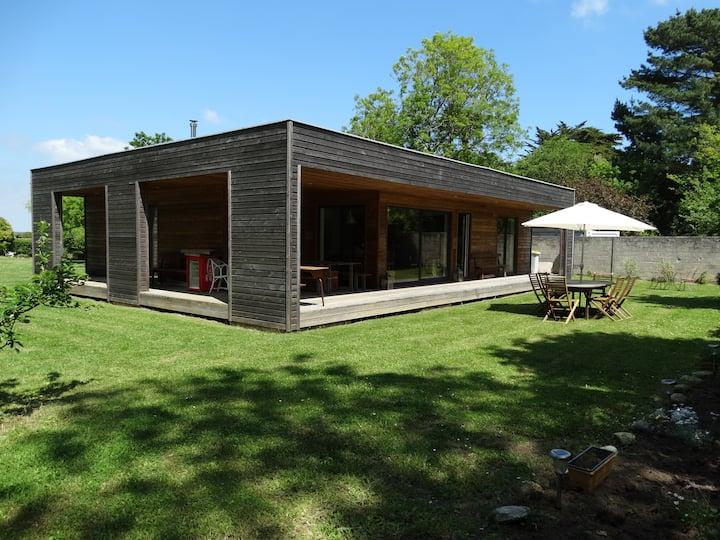 Maison bois, bord de mer, plein pied(PRIX CONFINt)