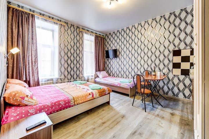 Апарт-отель в центре города на Моховой 20м2