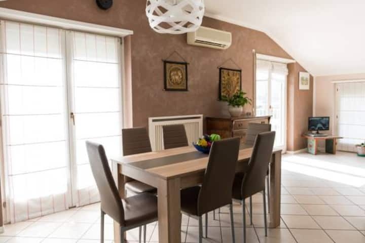 apartement with vew Riva del Garda 1 km from Lake