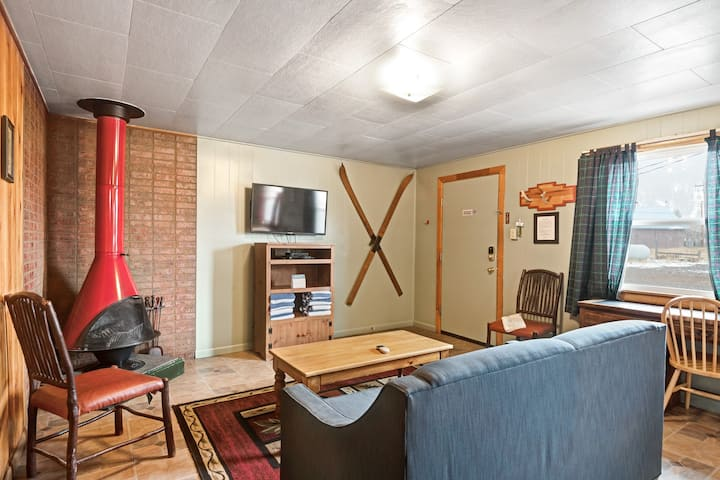 Dog-friendly cabin w/ shared hot tub, kitchen, entertainment & ski access nearby